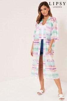 Lipsy Tie Dye Mesh Kimono