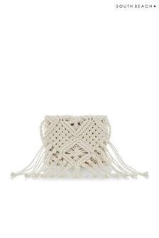 South Beach Crochet Tassel Cross Body Bag