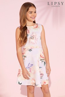 Lipsy Girl Scuba Floral Skater Dress