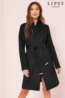 Lipsy Long Wrap Robe Coat
