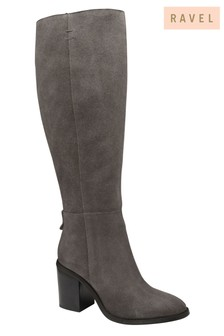 Ravel Knee High Block Heel Leather Boot