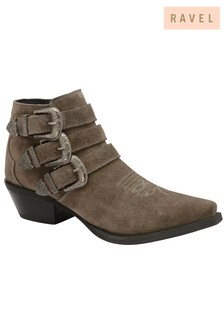Ravel Leather Ankle Boots