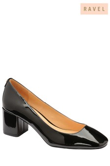 Ravel Block Heel Court Shoe