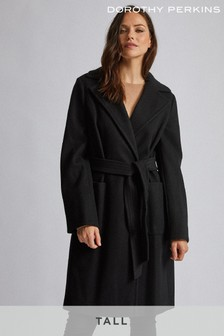 Dorothy Perkins Tall Patch Pocket Wrap Coat