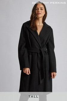 Dorothy Perkins Tall Patch Pocket Wrap Coat