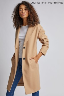Dorothy Perkins Tall Relaxed Unlined Crombie Coat
