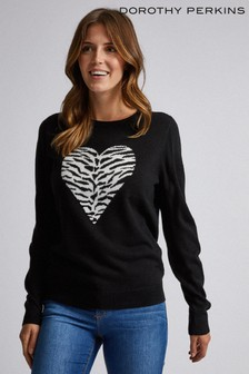 Dorothy Perkins Animal Heart Jumper