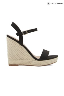 Call It Spring Sandals Open Toe Espadrille Wedges