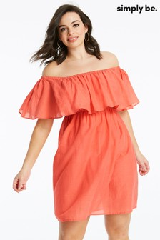 Simply Be Cotton Bardot Beach Dress