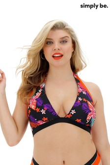 Simply Be Curve Mix And Match Halterneck Bikini Top