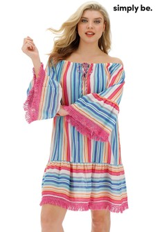 Simply Be Bardot Stripe Beach Tunic