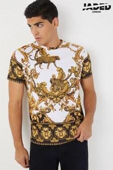 Jaded London Leopard Baroque T-Shirt