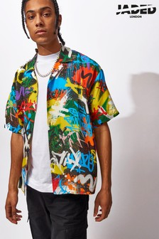 Jaded London Graffiti Printed Shirt