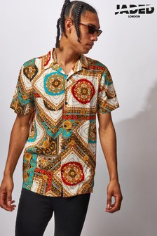 Jaded London Vintage Baroque Print Shirt