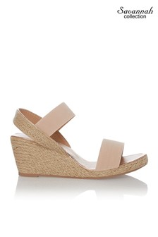 Savannah Low Espadrille Wedge