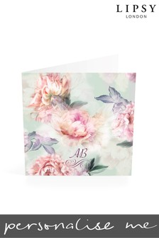 Personalised Lipsy Rosalie Mint Monogrammed Notelet Cards By Croft Designs