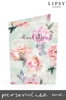 Personalised Lipsy Rosalie Mint Monogrammed Thank You Cards By Croft Designs