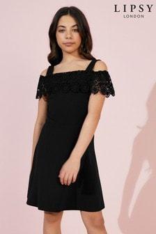 Lipsy Girl Lace Frill Dress