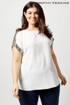 Dorothy Perkins Curve Sequin T-Shirt