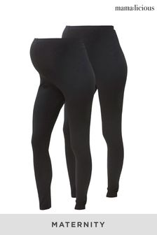 Mamalicious Pack of 2 Maternity Leggings
