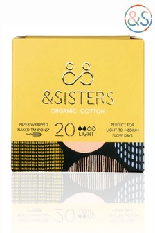 &Sisters | Plastic-free Naked Tampons | Organic | Paper-wrapped | Light