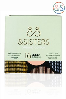 &Sisters | Plastic-free Naked Tampons | Organic | Paper-wrapped | Medium