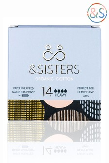 &Sisters | Plastic-free Naked Tampons | Organic | Paper-wrapped | Heavy