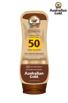 Australian Gold SPF 50 Lotion With Instant Bronzer
