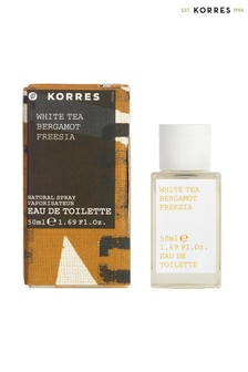Korres White Tea, Bergamot & Freesia Eau de Toilette 50ml