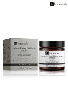 Dr Botanicals Advanced Natural Facial Scrub for Men Pomegranate Noir