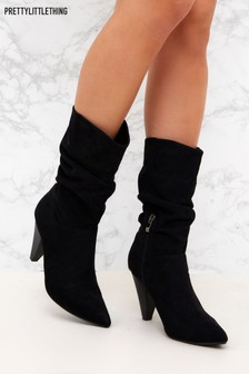 PrettyLittleThing Suede Slouch Boot