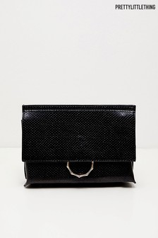 PrettyLittleThing Bamboo Hoop Clutch Bag