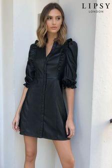 Lipsy Ruffle Trim Shirt Dress