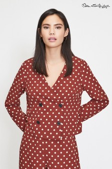 Miss Selfridge Mixed Spot Blouse