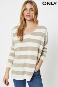 Only Stripe V Neck Jumper