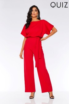 Quiz Tie Belt Jumpsuit