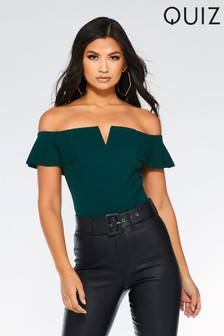 ba290d51f1507 Buy Women s tops Partywear Partywear Tops Green Green from the Next ...