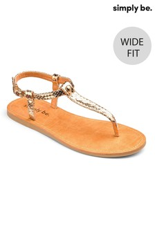 Simply Be Basic Toe-Post Wide Fit Sandals