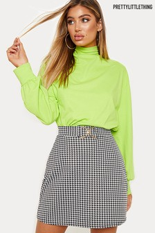 PrettyLittleThing Dogtooth Check Mini Skirt