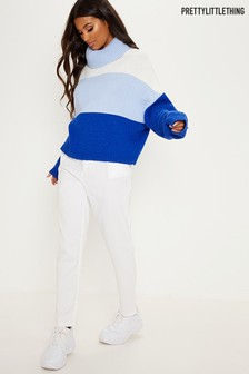 Pull PrettyLittleThing à col roulé style color block