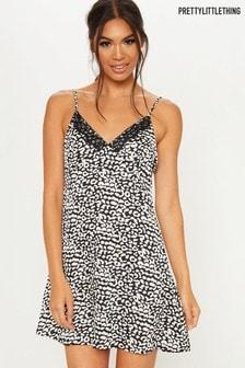 Короткая ночная рубашка с леопардовым принтом PrettyLittleThing