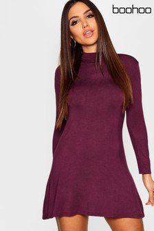 Boohoo High Neck Swing Dress