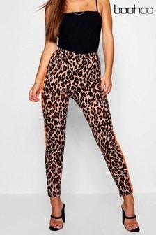 Boohoo Petite Leggings mit Leopardenmuster