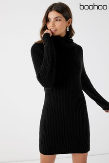 Boohoo Oversized Soft Knit Jumper Dress