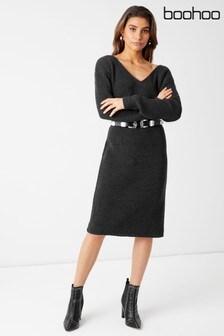שמלת סוודר מידי בגזרת אוברסייז של Boohoo