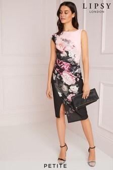 Vestido 2 en 1 con estampado floral de Lipsy Petite