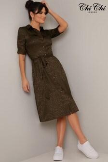 Chi Chi London Pauleena Midi Shirt Dress