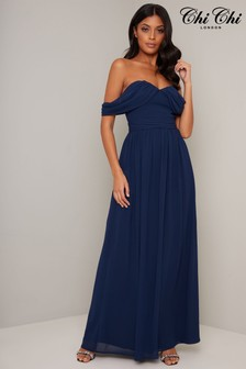 Chi Chi London Bardot Maxi Dress
