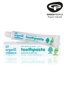 Green People Organic Child Toothpaste, Spearmint & Aloe Vera 50ml