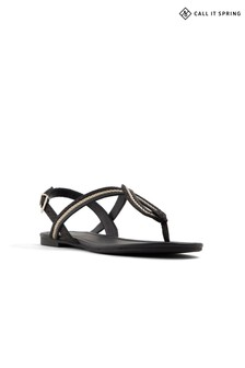 Call It Spring Ladies Flat Leather Sandals